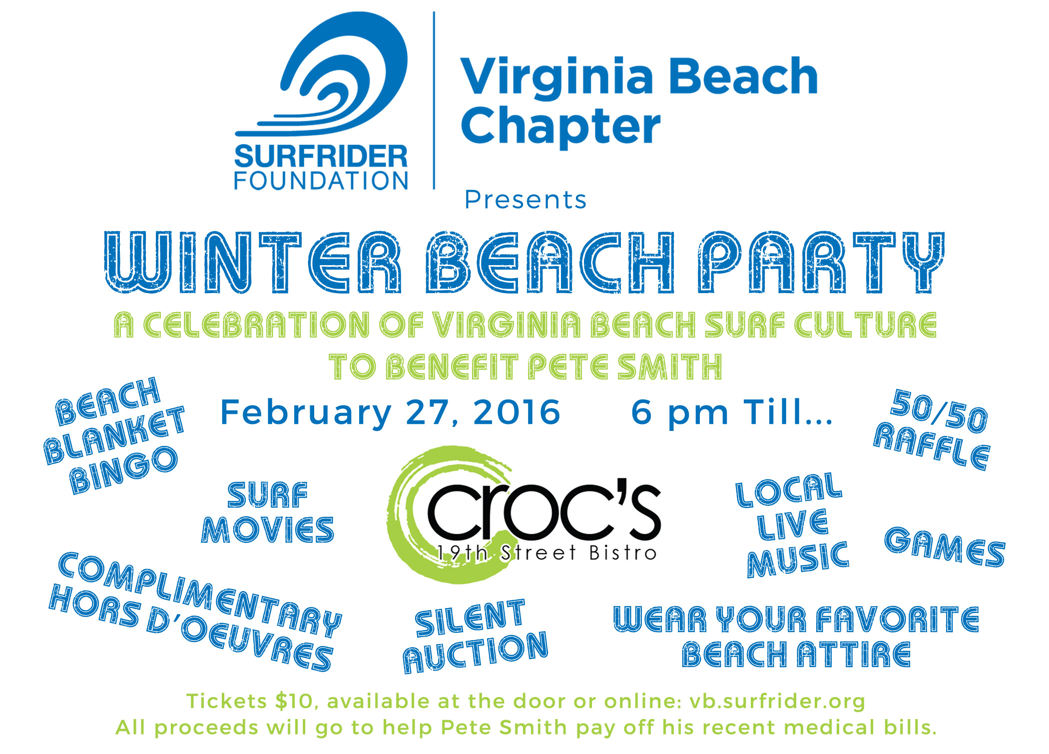 Winter Beach Party and Pete Smith Benefit